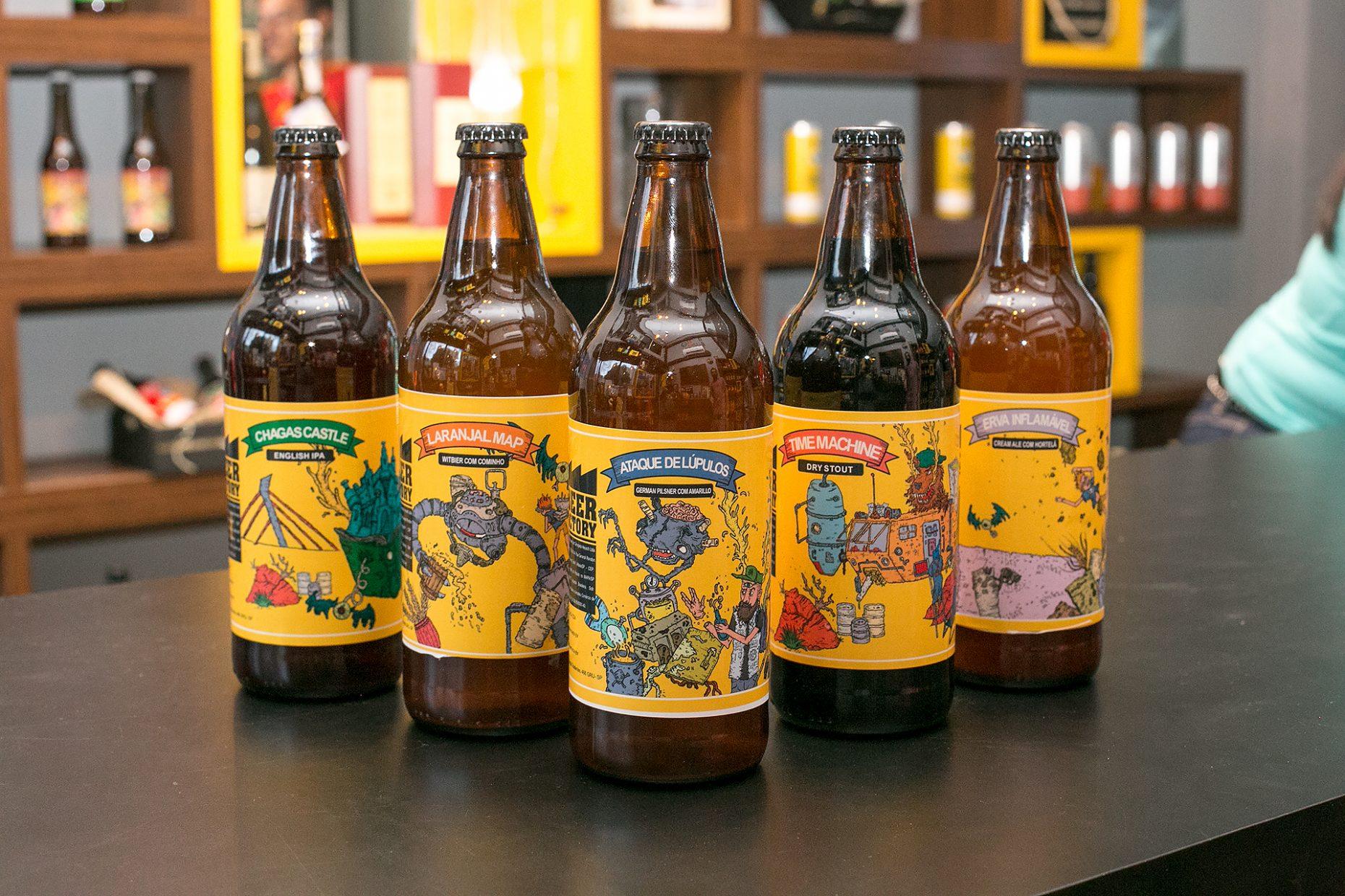 Design e ilustrações The Beer Factory